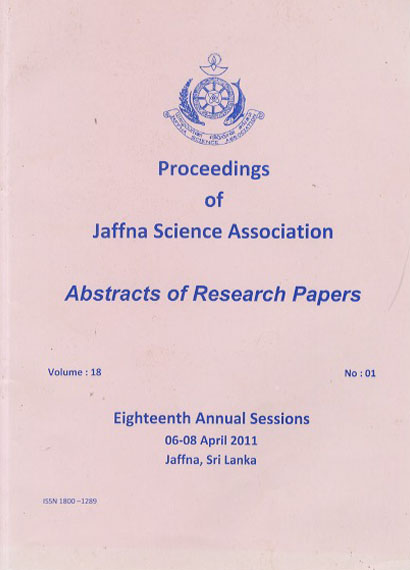 18th Annual session - Abstracts - 2011