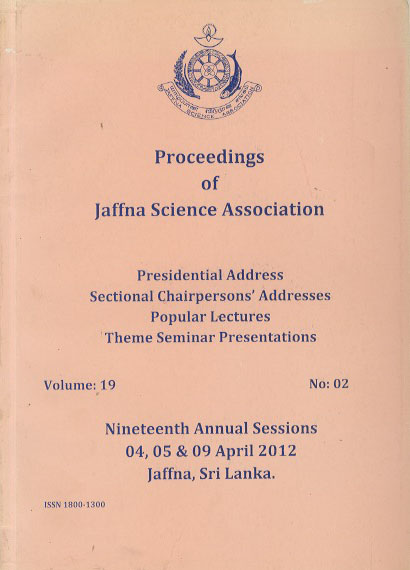 19th Annual session - Presidential Addresses - 2012