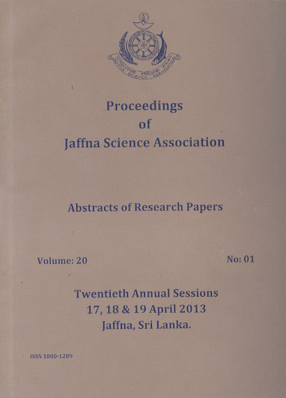 20th Annual session - Abstracts - 2013