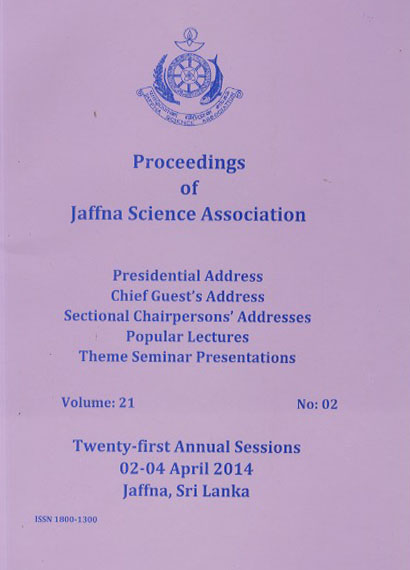21st Annual session - Presidential Addresses - 2014