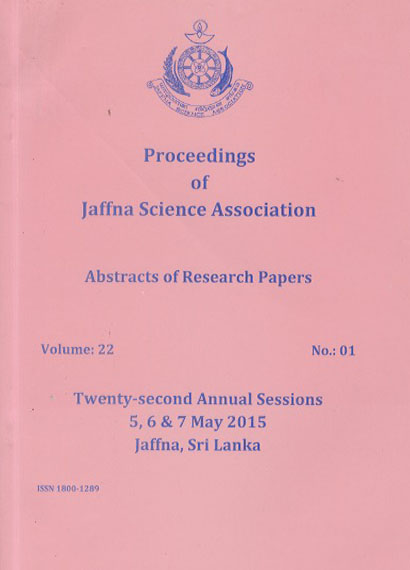 22nd Annual session  - Abstracts - 2015